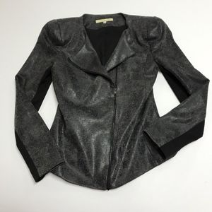 Robbi & Nikki Glazed Strong Shoulder Moto Jacket